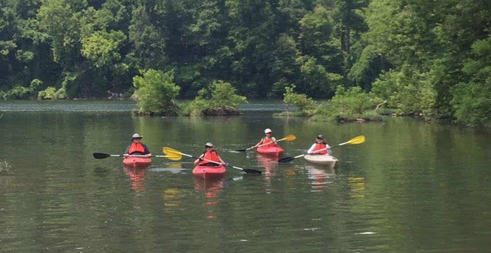 Encore Learning Kayak Club in Arlington